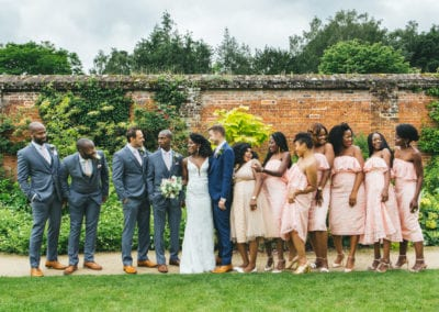 Conservatory at Painshill wedding, Seun & Michael