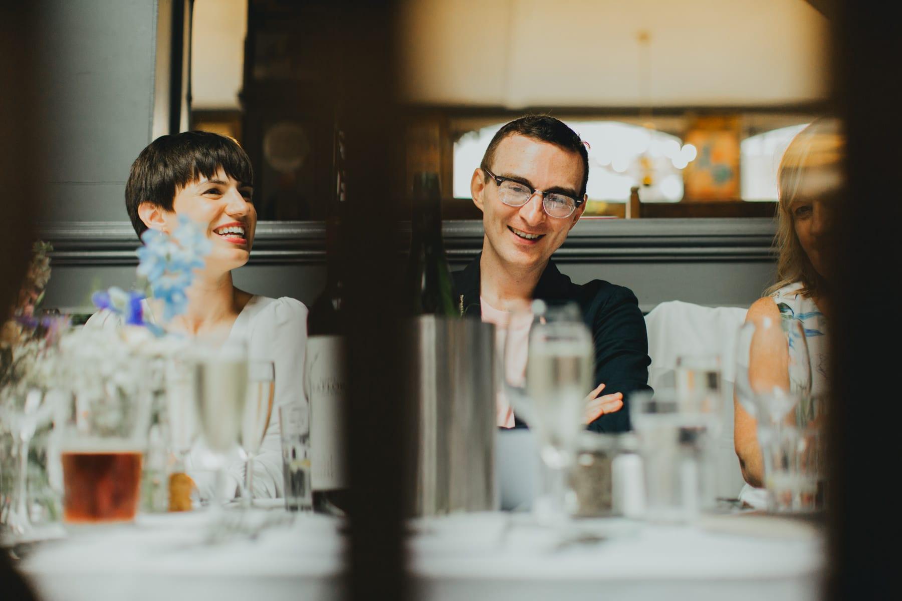 Wedding reception at the Londesborough Pub. Clissold House Stoke Newington Wedding