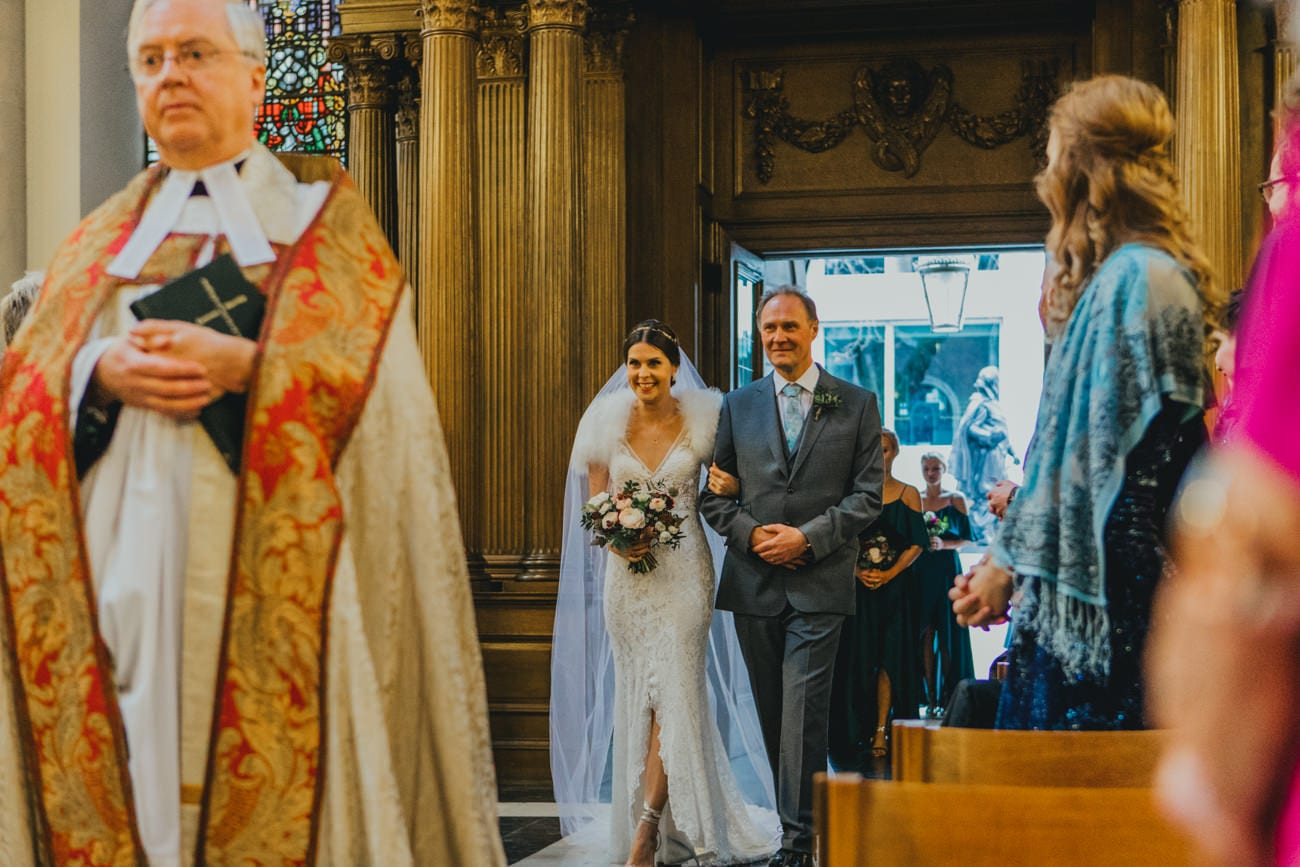 St Mary-Le-Bow wedding by Katy & Co. Eco friendly wedding photographer London